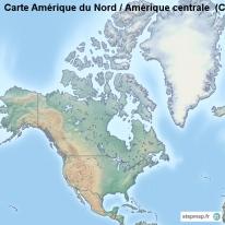 Carte Topographique Amerique Du Sud.Stepmap Cartes De Carte D Amerique Du Nord Amerique Centrale