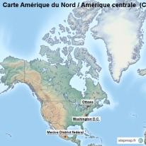 Carte Amerique Latine Avec Fleuves.Stepmap Cartes De Carte D Amerique Du Nord Amerique Centrale
