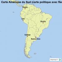 Carte Amerique Du Sud Fleuves.Carte Cree Par Carte Carte De Amerique Du Sud