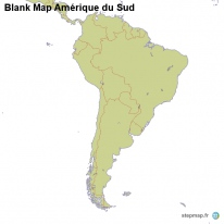 Blank Map Amérique du Sud
