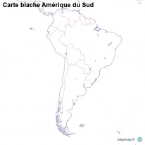 Carte blache Amérique du Sud