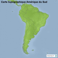 Carte Topographique Amerique Du Sud.Carte Cree Par Carte Carte De Amerique Du Sud
