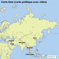 Carte Asie Avec Villes.Carte Cree Par Carte Carte De Asie