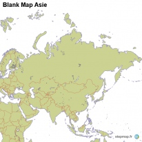 Blank Map Asie