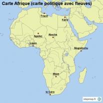 Carte Amerique Latine Avec Fleuves.Stepmap Cartes De Carte D Afrique