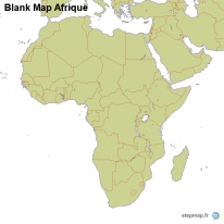 Blank Map Afrique