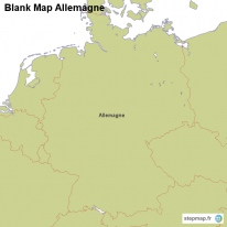 Blank Map Allemagne