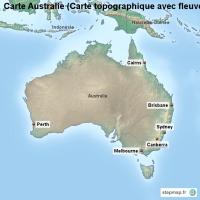 Carte Topographique Australie.Carte Cree Par Carte Carte De Australie