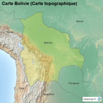 Carte Bolivie (Carte topographique)