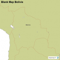 Blank Map Bolivie