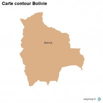 Carte contour Bolivie