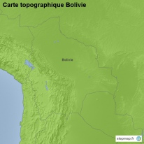 Carte topographique Bolivie