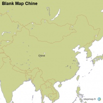 Blank Map Chine