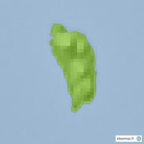 Carte topographique Dominica