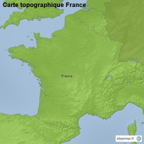 Carte topographique France
