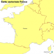 Carte vectorisée France