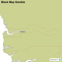 Blank Map Gambie