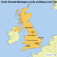 carte de bretagne avec les villes