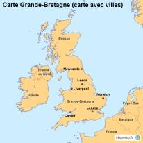 Carte Angleterre Grandes Villes.Stepmap Cartes De Grande Bretagne