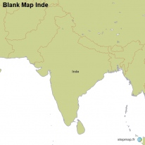 Blank Map Inde