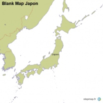 Blank Map Japon