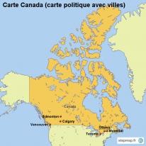 Carte Canada Avec Ville.Stepmap Cartes De Canada