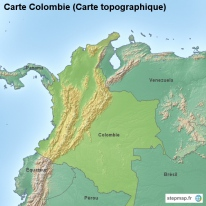 Carte Colombie (Carte topographique)