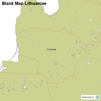 Blank Map Lithuaniae