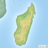 Carte Topographique De Madagascar.Stepmap Cartes De Madagascar