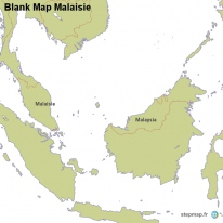Blank Map Malaisie