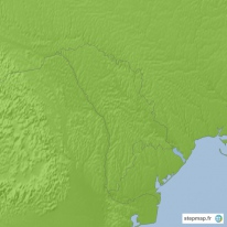 Carte topographique Moldavie