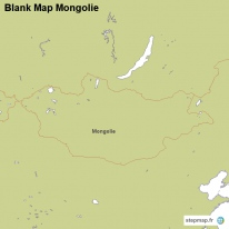 Blank Map Mongolie