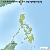 Carte Philippines (Carte topographique)