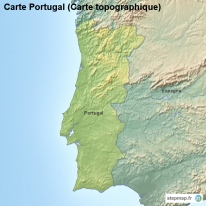 Carte Portugal (Carte topographique)