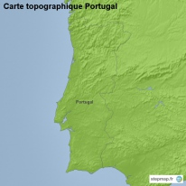 Carte topographique Portugal