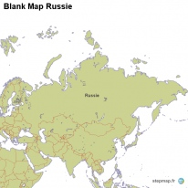 Blank Map Russie