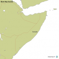 Blank Map Somalie