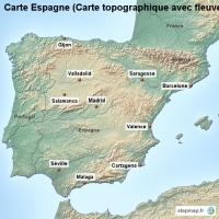 Carte Espagne Topographique.Carte Cree Par Carte Carte De Espagne