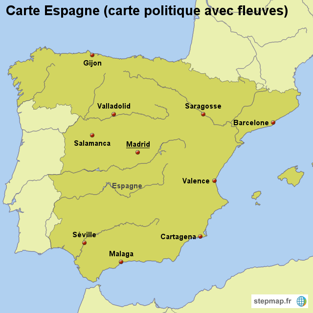 Carte D Espagne Fleuves | My blog