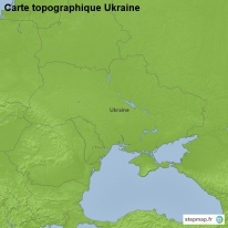 Carte topographique Ukraine