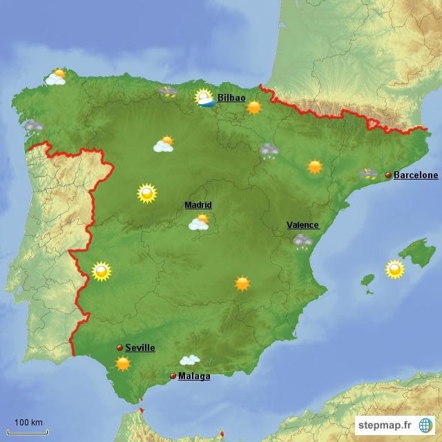 Carte Météo Espagne | imvt