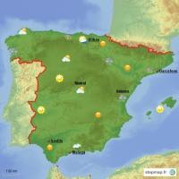 Carte Espagne Meteo.Carte Cree Par Framboisesandeau Carte De Espagne